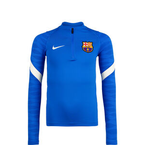FC Barcelona Strike Drill Trainingssweat Kinder, blau / weiß, zoom bei OUTFITTER Online