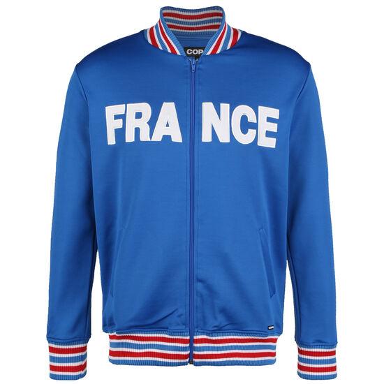 Frankreich 1960s Retro Trainingsjacke Herren, blau / weiß, zoom bei OUTFITTER Online