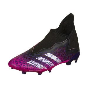 Predator Freak .3 Laceless FG Fußballschuh Kinder, schwarz / pink, zoom bei OUTFITTER Online