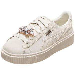 Suede Platform Gem Sneaker Damen, weiß, zoom bei OUTFITTER Online
