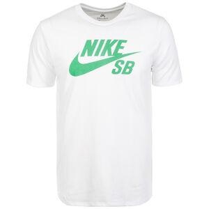 Logo T-Shirt Herren, weiß / grün, zoom bei OUTFITTER Online