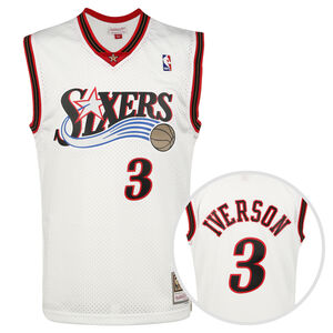 NBA Philadelphia 76ers Allen Iverson Swingman Trikot Herren, weiß / rot, zoom bei OUTFITTER Online