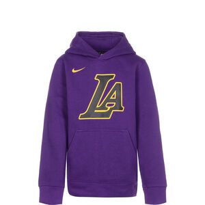 NBA LA Lakers City Edition Essentials Logo Hoodie Kinder, lila / gelb, zoom bei OUTFITTER Online