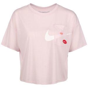 Icon Clash Short Trainingsshirt Damen, altrosa / weiß, zoom bei OUTFITTER Online