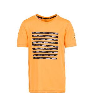 All Caps Trainingsshirt Kinder, orange / schwarz, zoom bei OUTFITTER Online
