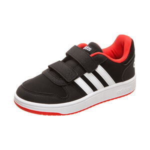 Hoops 2.0 CMF Sneaker Kinder, schwarz / rot, zoom bei OUTFITTER Online