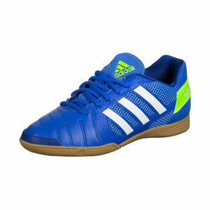 Top Sala Fußballschuh Kinder, blau / grün, zoom bei OUTFITTER Online