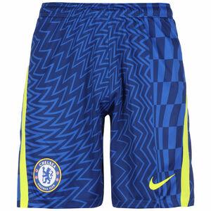FC Chelsea Shorts Home Stadium 2021/2022 Herren, blau / gelb, zoom bei OUTFITTER Online