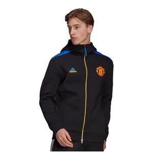 Manchester United Z.N.E. Kapuzenjacke Herren, schwarz / blau, zoom bei OUTFITTER Online