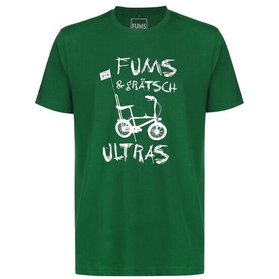 FUMS & GRÄTSCH Ultras T-Shirt, grün / weiß, zoom bei OUTFITTER Online