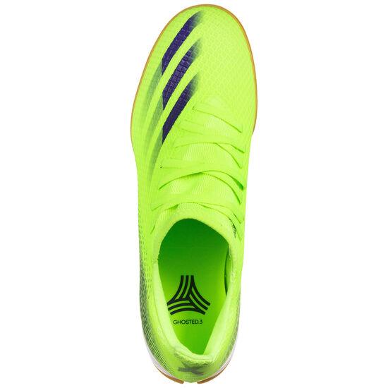 X Ghosted.3 Indoor Fußballschuh Herren, hellgrün / blau, zoom bei OUTFITTER Online