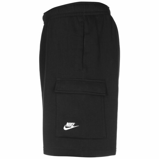 Club Fleece Cargo Shorts Herren, schwarz / weiß, zoom bei OUTFITTER Online