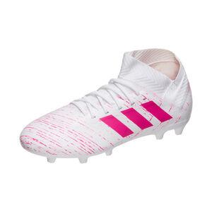 Nemeziz 18.3 FG Fußballschuh Kinder, weiß / pink, zoom bei OUTFITTER Online