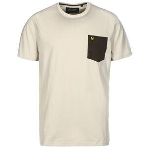 Contrast Pocket T-Shirt Herren, braun / grün, zoom bei OUTFITTER Online