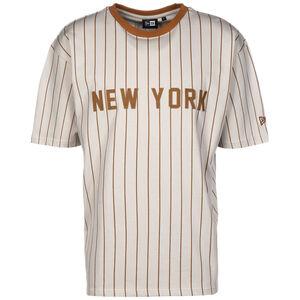 MLB New York Yankees Oversized Pinstripe T-Shirt Herren, beige / braun, zoom bei OUTFITTER Online