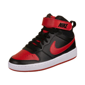 Court Borough Mid 2 Sneaker Kinder, schwarz / rot, zoom bei OUTFITTER Online