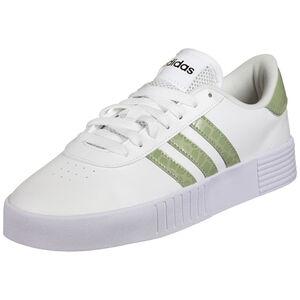 Court Bold Sneaker Damen, weiß / grün, zoom bei OUTFITTER Online