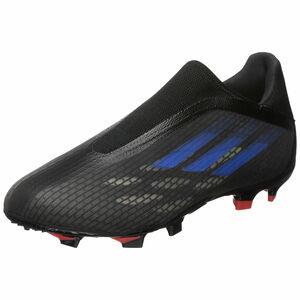 X Speedflow.3 Laceless FG Fußballschuh Herren, schwarz / blau, zoom bei OUTFITTER Online