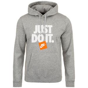 Just Do It Fleece Kapuzenpullover Herren, grau / weiß, zoom bei OUTFITTER Online