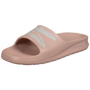 Croco Slide Badesandale Damen, rosa / weiß, zoom bei OUTFITTER Online