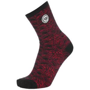SGE x Tsubasa Wave Easy Socken, schwarz / weinrot, zoom bei OUTFITTER Online