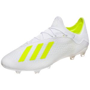 X 18.2 FG Fußballschuh Herren, weiß / neongelb, zoom bei OUTFITTER Online