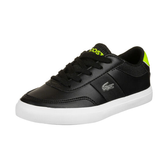Court-Master Sneaker Kinder, schwarz / neongrün, zoom bei OUTFITTER Online