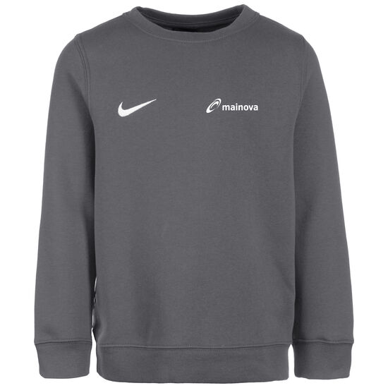 Mainova Club19 Crew Fleece TM Trainingssweat Kinder, anthrazit / weiß, zoom bei OUTFITTER Online