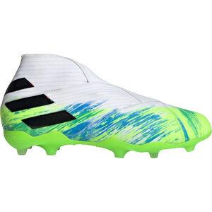 Nemeziz 19+ FG Fußballschuh Kinder, weiß / neongrün, zoom bei OUTFITTER Online