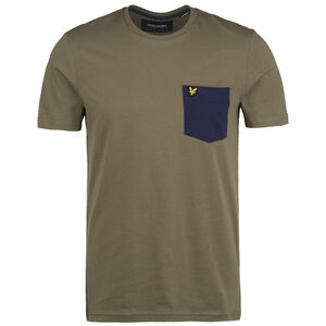 Contrast Pocket T-Shirt Herren, oliv / dunkelblau, zoom bei OUTFITTER Online