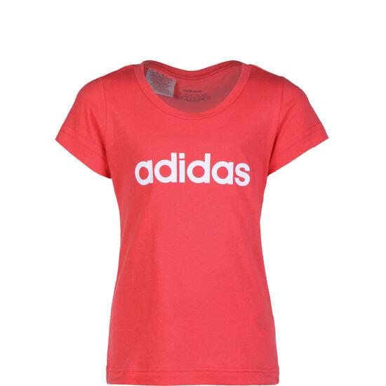 Essentials Linear T-Shirt Kinder, pink / weiß, zoom bei OUTFITTER Online