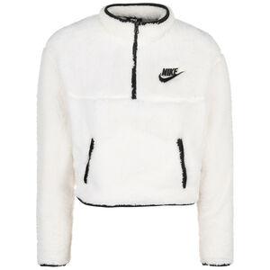 Sherpa-Fleece Crop Sweatjacke Damen, weiß / schwarz, zoom bei OUTFITTER Online