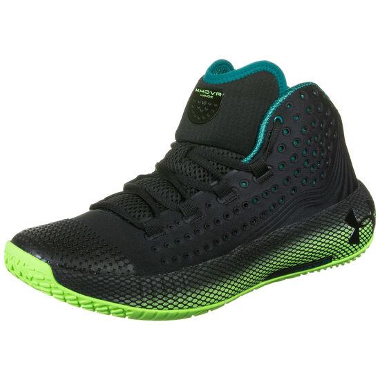 Hovr Havoc 2 Basketballschuhe Herren, schwarz / neongrün, zoom bei OUTFITTER Online