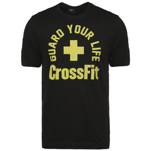 CrossFit Guard Your Life Trainingsshirt Herren, schwarz / gelb, zoom bei OUTFITTER Online
