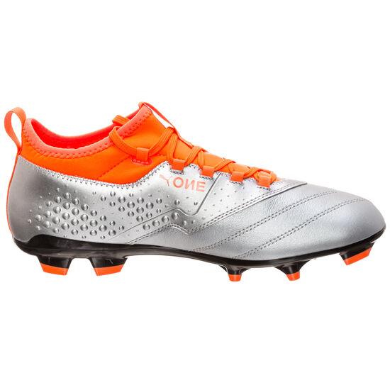 ONE 3 Leather FG Fußballschuh Herren, Silber, zoom bei OUTFITTER Online