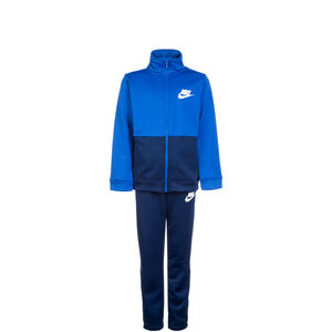 Sportswear Poly Trainingsanzug Kinder, blau / weiß, zoom bei OUTFITTER Online