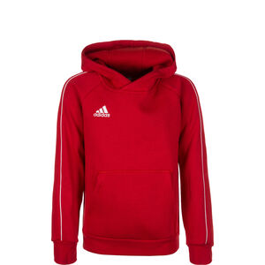 Core 18 Trainingskapuzenpullover Kinder, rot / weiß, zoom bei OUTFITTER Online