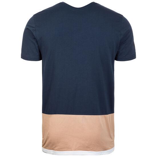 HMLAARON Trainingsshirt Herren, dunkelblau / beige, zoom bei OUTFITTER Online