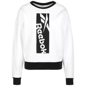 Workout Ready Big Logo Sweatshirt Damen, weiß / schwarz, zoom bei OUTFITTER Online