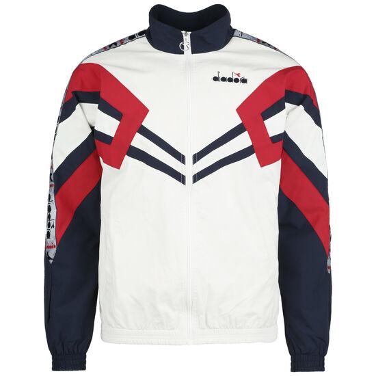 Track Jacket MVB Trainingsjacke Herren, weiß / dunkelblau, zoom bei OUTFITTER Online