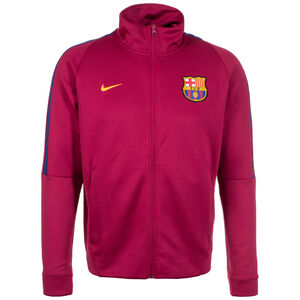 FC Barcelona Authentic Track Trainingsjacke Herren, rot / gelb, zoom bei OUTFITTER Online