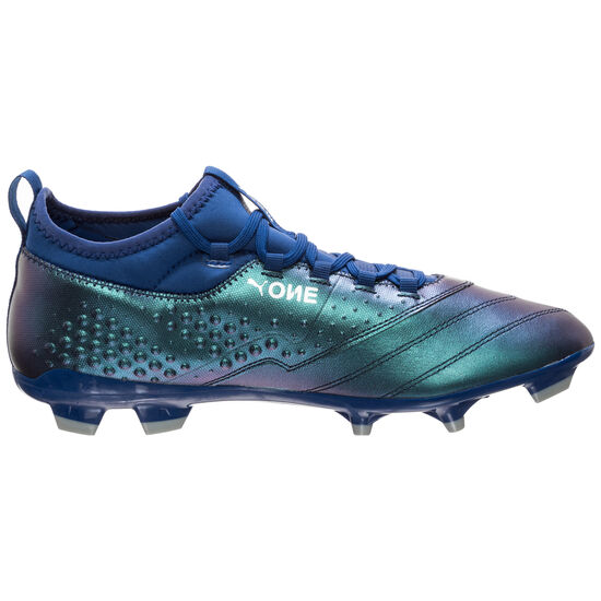 ONE 3 Leather FG Fußballschuh Herren, blau / silber, zoom bei OUTFITTER Online