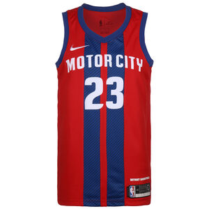 NBA Detroit Pistons Blake Griffin City Edition Swingman Basketballtrikot Herren, rot / blau, zoom bei OUTFITTER Online