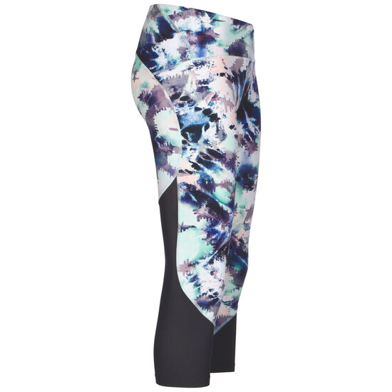 Fly Fast Printed Crop Lauftight Damen, hellblau / lila, zoom bei OUTFITTER Online
