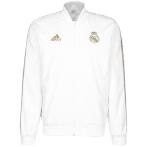 Real Madrid Anthem Jacke Herren, weiß / gold, zoom bei OUTFITTER Online
