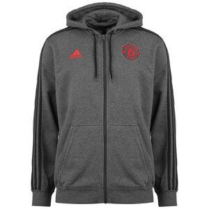 Manchester United 3-Streifen Kapuzenjacke Herren, dunkelgrau / schwarz, zoom bei OUTFITTER Online