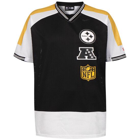 NFL Pittsburgh Steelers Stacked Logo Oversized T-Shirt Herren, schwarz / weiß, zoom bei OUTFITTER Online