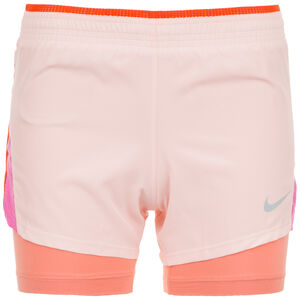 10K 2-in-1 Laufshort Damen, rosa / pink, zoom bei OUTFITTER Online
