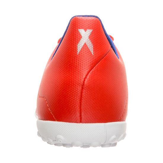 X 18.4 TF Fußballschuh Kinder, rot / silber, zoom bei OUTFITTER Online
