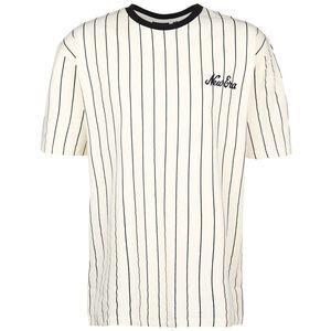 Pinstripe Oversized T-Shirt Herren, beige / schwarz, zoom bei OUTFITTER Online